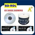 Taiwán a+ materia prima blue ray dvd blu-ray disc 25gb 50gb para imprimir