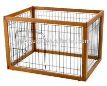 Pets Furniture Wooden Pet Pen / Dog Run Kennel