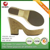 new design latest style lady high heel sandal pu phylon sole