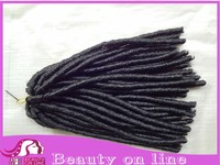 "Synthetic Hair Extension Darling Soft Dread Lock 24"" inch Long Kanekalon Twist Hair Braids Synthetic Dreadlocks"