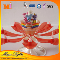 New Style Doll Rose Flower Rotating Fireworks Birthday Candle