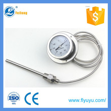Feilong industrial pressure type thermometer industrial temperature instruments