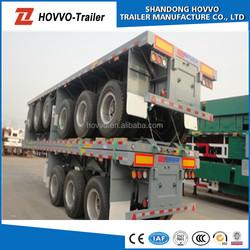 china 3 axle flatbed container semi trailer