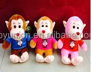 High quality plush Monkey toys /flying monkey with sound,plush monkey toy