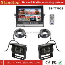 7 polegada quad monitor com câmera de segurança táxi sistema de câmera