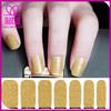 full cover nail sticker,gold nail art sticker,3d nail sticker/decal