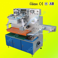 Full Automatic Mechanical Roll To Roll Label Screen Printing Machine 320mm