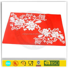 Kitchen silicone flower modern table mats for desk