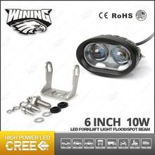 "Off Road 10W LED Work Light Lamp Dual Len D2 Motorcycle Forklift Walkieds Spot Beam 6"" LED Car Light"