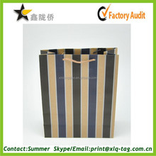 2015 custom China factory printed paper gift bags with fashion stripe