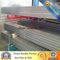 hot galvanized steel square tube with holes