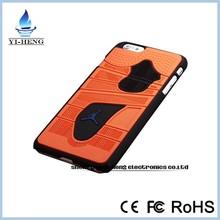 Hot fashion 3D Jordan Shoe Sole PVC Rubber phone cover Case For Apple iPhone6