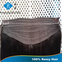 Hot Sale Long Lasting 100% Human Remy halo hair extensions wire