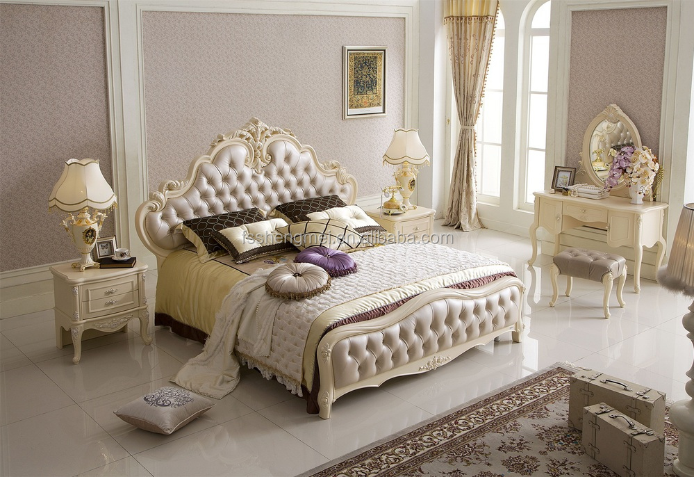 French Empire Style Furniture King Size Bedroom Furniture White 4 ...