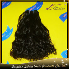 hot sale high quality curly color #1b 14inch wholesale virgin indian hair from chennai indian