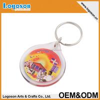 High Quality Round Clear Blank Acrylic Keychain
