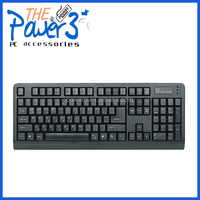 Popular coloured mechanical keyboard with red keys