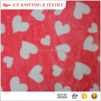 Stretch plush flannel fleece fabric for baby
