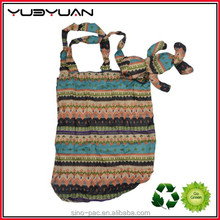 2015 Tote bag machine custom made reusable waterproof folding 190T polyester shopping bag wholesale