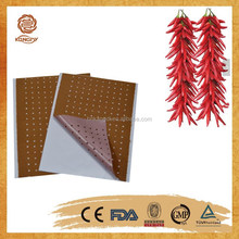 2015 china supply CE approved OEM service finely processed capsicum plaster /pain relief patch