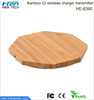 2015 new design Bamboo QI inductive powermat universal wireless charger for samsung galaxy s4