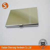 Fast shipping leather business card holder with notepad