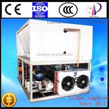 Hanbell screw compressor water chilling unit /freon brine refrigerating installation
