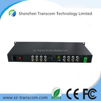 16 Channel Full Digital Video Fiber Optical Converter/CCTV 16 channel analog fiber optical video converter for camera