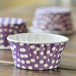 White Polka Dot design with mix color paper mini cake cup / bake cup/ muffin cases wedding birthday party cake decoration favors