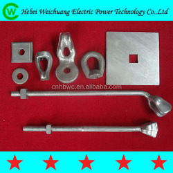 Hot galvanized all kinds of electric power line hardware / electrical power accessories