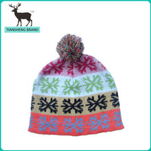 new design china wholesale children hand made knitted hats with flowers