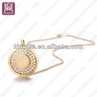 luxury crystal stone jewelry necklace round jewelry pendant trays