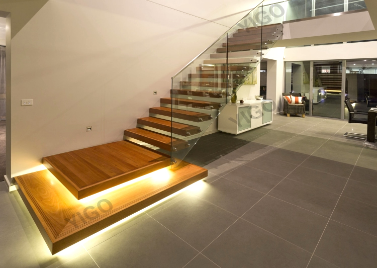 Merveilleux Stainless Steel Glass Stair Staircase 7