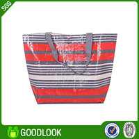 2015 top sale green woven all kinds of recycled plastic carrier pp woven bag GL182