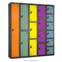Clean Room Designs Dressers Cupboards oem kd 5 Doors Metal Cabinet Clothes Iron Stainless Steel Locker