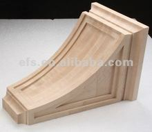 Traditional smooth bar bracket simple modern wood sculptures EFS-A-COR4