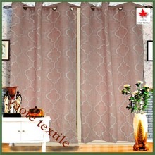 Shaoxing Keqiao Linen Geometric Pattern Window Curtain For Living Room