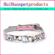 wholesale good quality diamond leather pet dog collar