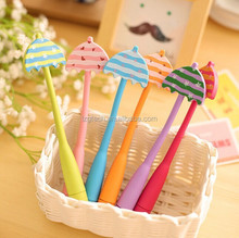 Candy-colored umbrella bent cartoon ballpoint pen cartoon,cartoon bent pen, Flexible Ballpoint PenLZGPC23