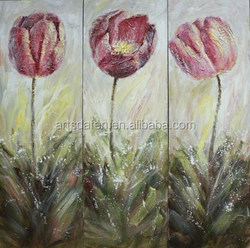 flower oil painting on canvas for decor
