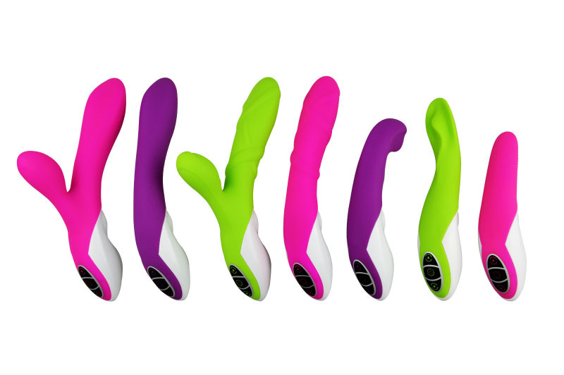 Multicolor dildo vibrator, usb vibrating massager for female