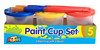 3pc Paint cups with Brushes ARTOYS A0005