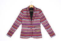 Spring 2016 Multicolour Tapestry Jacquard Basic Blazer