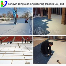 hot sale synthetic ice hockey shooting rink ,skating plastic boards/plastic skirting pad