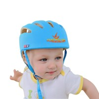 kid hat 100% cotton breathable baby protective safty hat Beilibao F style infant helmet Blue color