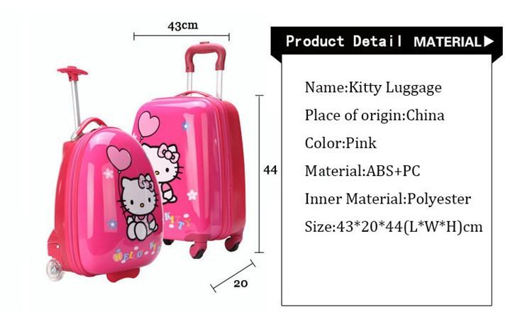 видных камера 16 «дюйм прекрасный розовый тележки чемодан прочный путешественник дела abs + pc посадочного ствола мешок