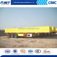 Tri-Axles Trailer with Side Wall For Sale