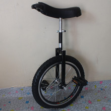 "Motorcycle 24"" one wheel bike Double alloy rim Height Adjustable Black color CE/ASTM F963-11 Approved"