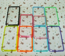 cell phone tpu acrylic case for Note3