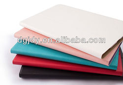 colors fashion new folding stand leather case for ipad mini